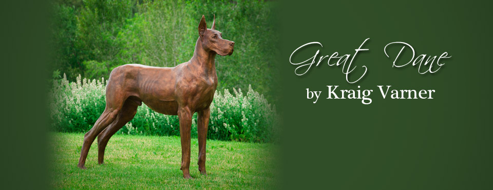 Life-Size Great Dane Sculpture by Kraig Varner