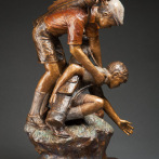 Newly completed in 28″ size 'Last Ball' by Dennis Smith